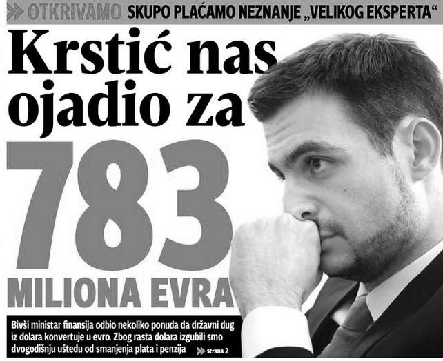 """11. februara na naslovnoj strani """"Blica"""" objavljena je i vest, koja samo dodatno pokazuje o čemu se radi kad su u pitanju """"reforme"""""""