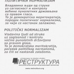 Политички нормализам – поредак (скоре) будућности